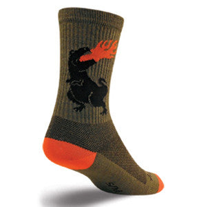 Dinosaur Turbo Wool Crew Socks