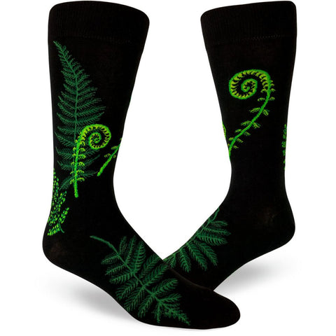 Fiddlehead and Fern Men's Crew Sock