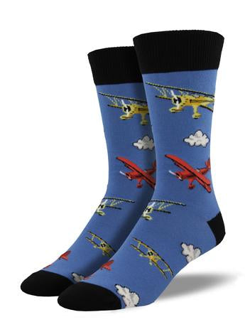 Flying Bi (Blue) Men's Crew Socks