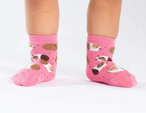 Guinea Piggin' Around Kids' (Age 1-2) Crew Sock
