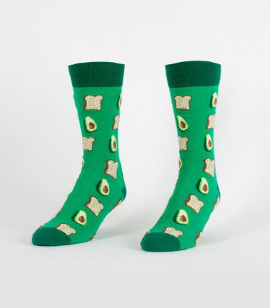 Avocados and Toast Men's Crew Sock