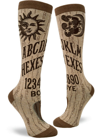 Hexes for Exes, Ouija Board Women's Knee Highs