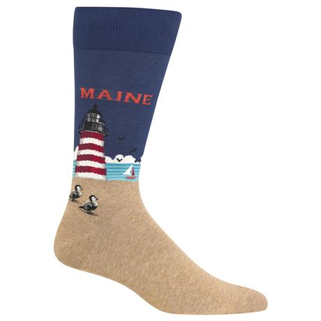 Maine Lighthouse Men's Crew Socks