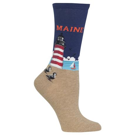 Maine Lighthouse Women's Crew Socks