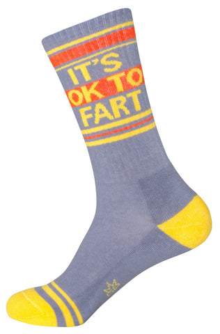 It's Okay To Fart Unisex Crew Socks