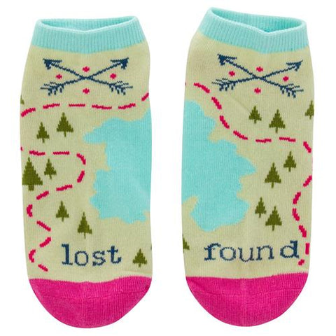 Lost And Found Adventure Women's Ankle Socks