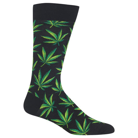 Marijuana (Black) Men's Crew Socks