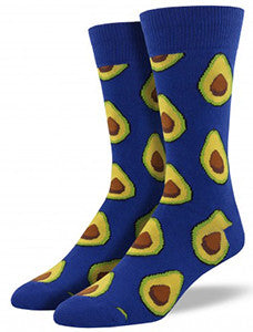 Avocado (Royal Blue) Men's Crew Socks