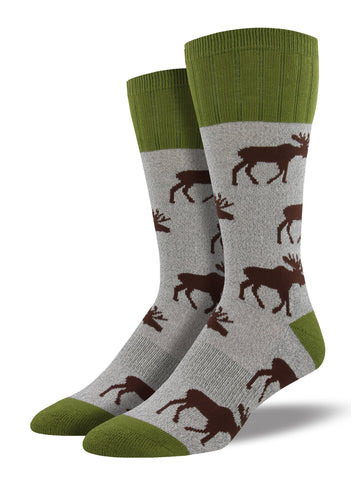 Outlands Moose (Grey) Men's Boot Sock