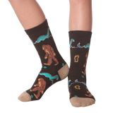 Bigfoot And Nessie Kids' (Age 5-9) Socks