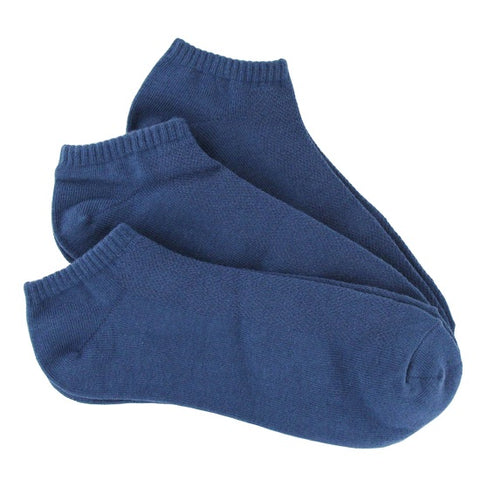 Bamboo 3 Pack (Indigo Blue) Men's No Show Socks