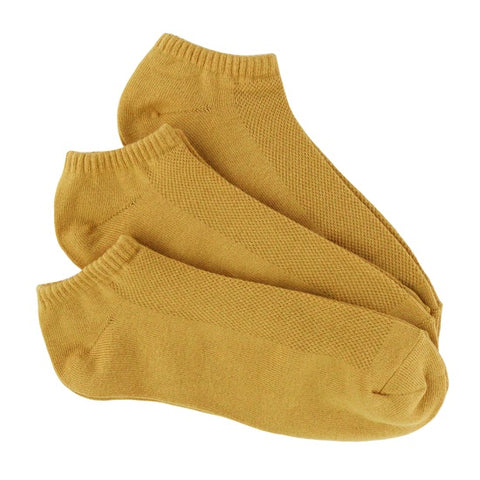 Bamboo 3 Pack (Mustard Yellow) Men's No Show Socks