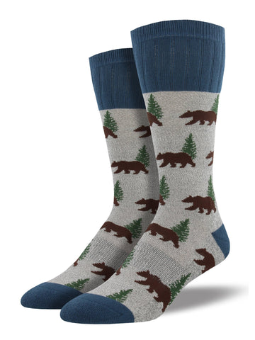 Outlands Bear (Grey) Men's Boot Sock