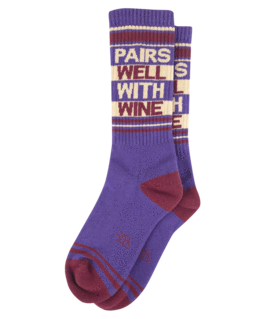 Pairs Well With Wine Unisex Crew Socks