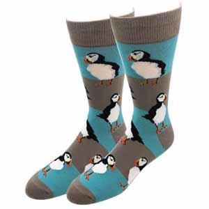 Puffin Stripes Men's Crew Socks