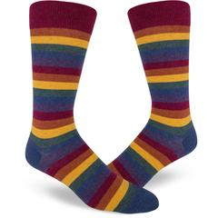 Muted Rainbow Men's Crew Sock