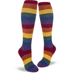 Heather Rainbow Women's Knee Highs
