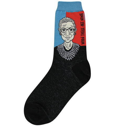 RBG When There Are Nine (Blue/ Red) Women's Crew Socks