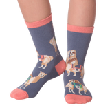 Sloth Riding Llamas Kids' (Age 5-9) Socks