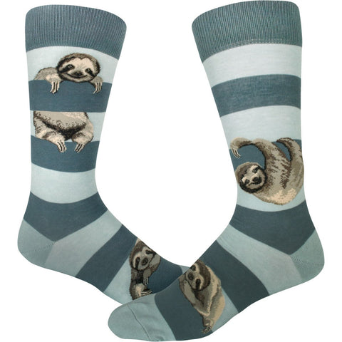 Sloth Stripe (Frost) Men's Crew Sock