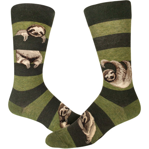 Sloth Stripe (Peat) Men's Crew Sock