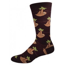 Sloth (Black) Men's Crew Socks