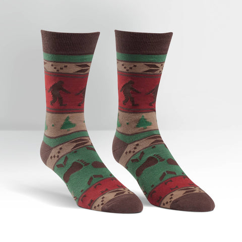 Bigfoot Sweater Men's Crew Socks