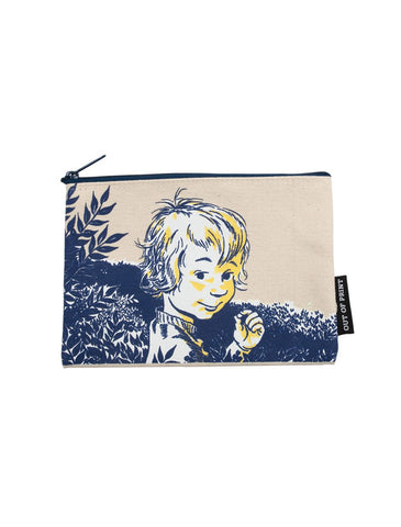 Blueberries For Sal Zippered Canvas Pouch