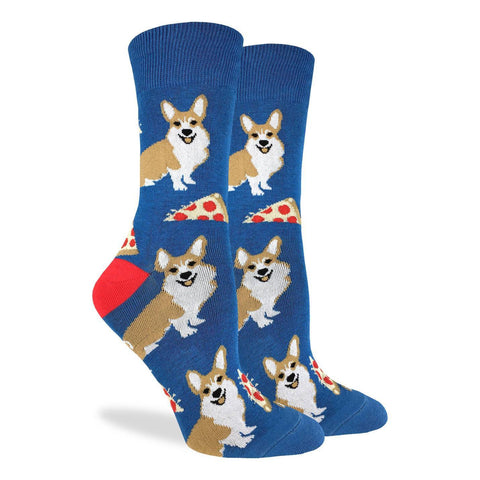 Corgi and Pizza Crew Unisex Crew sock (5-9)