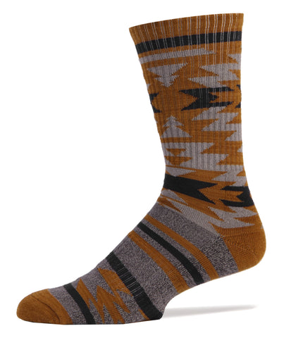 Mammoth (Mustard) Athletic Men's Crew Sock