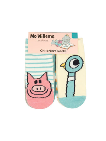 Mo Willems Pigeon And Friends Baby / Kids (0-12 Month, 12-24 Month, 2T-3T) 4 pack Crew Socks