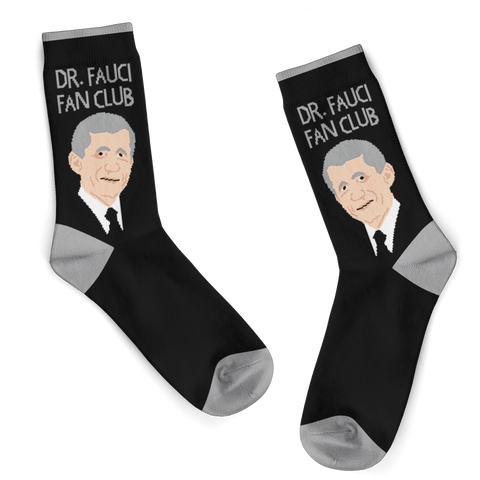Dr. Fauci Fan Club Crew Socks