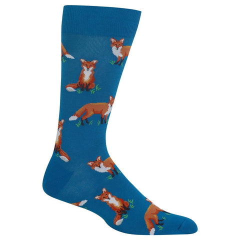 Fox (Teal) Men's Crew Socks