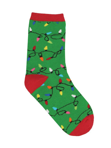 Christmas Lights Minis Kids' Crew Socks (12-24 Months)