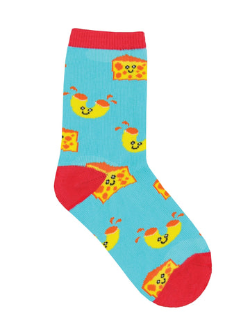 Mac And Cheese Kids' Crew Socks (Age 7-10)