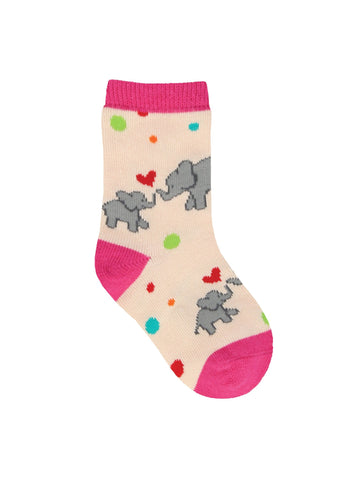Elephants Unforgettable Love Minis Kids' Crew Socks (6-12 Months or 12-24 Months)