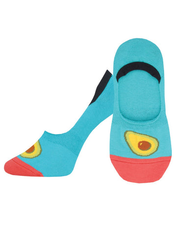 Avocados On Your Toes (Teal) Women's No-Show Liner