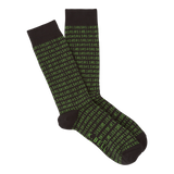 Binary Tech (Black) Men's Crew Socks