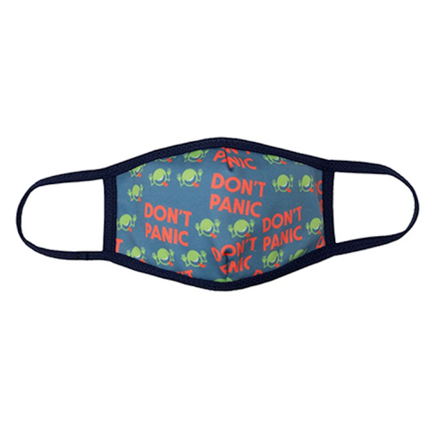 Hitchhiker's Guide To The Universe, DON'T PANIC Reusable Non-Medical Face Mask