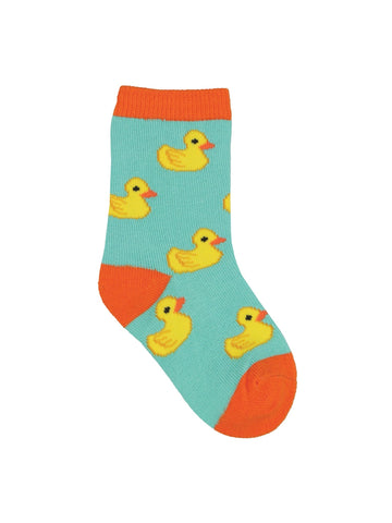 Rubber Duckies Minis Kids' Crew Socks (6-12 Months or 12-24 Months)