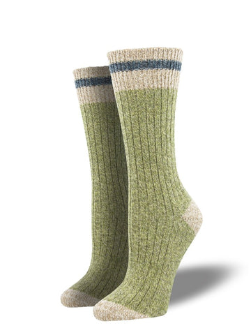 Outlands Yellowstone Cabin (Celery) Unisex Boot Sock