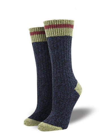 Outlands Yellowstone Cabin (Navy) Unisex Boot Sock