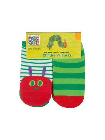 Eric Carle's Hungry Caterpillar Baby / Kids (0-12 Month, 12-24 Month, 2T-3T) 4 pack Crew Socks