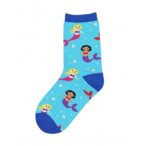 Mermaids Kids' Crew Socks (Age 2-4)
