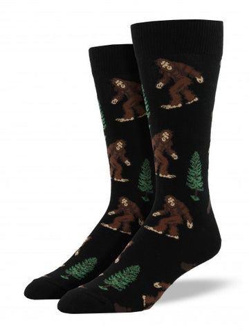 Bigfoot (Black) King Size Men's Socks