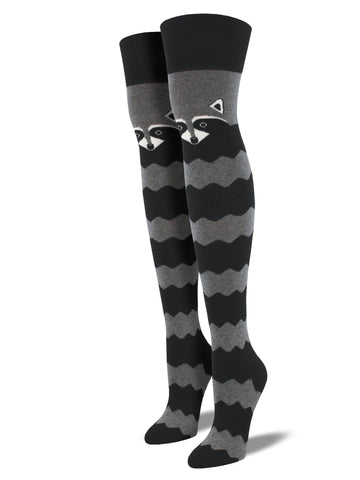 Raccoon (Charcoal Grey) Over the Knee