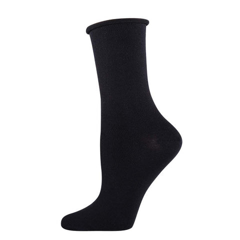 Roll Top Bamboo (Asst. Colors) Women's Crew Socks