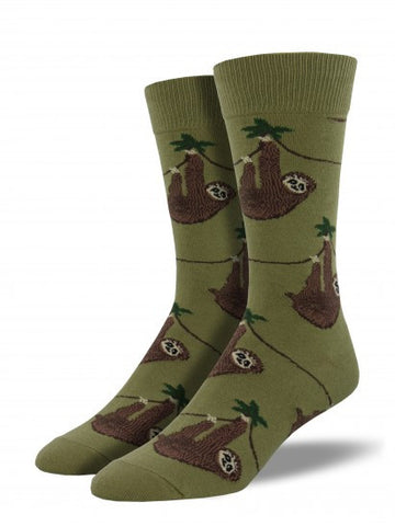 Sloth (Olive) Men's Crew Socks