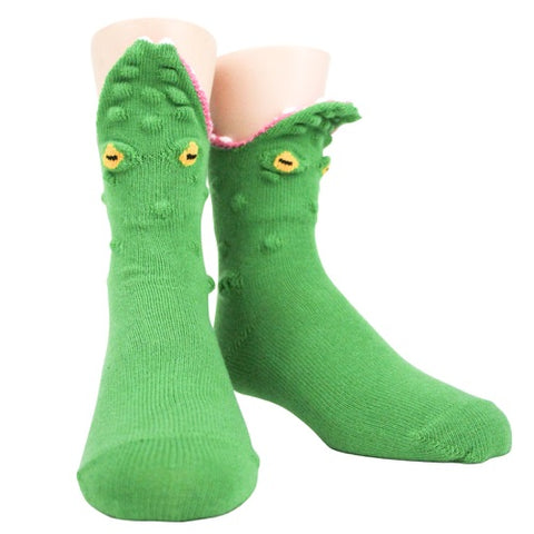 Alligator 3-D Kids' (Age 7-10) Crew Socks
