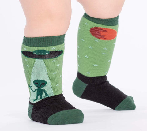 I Believe, Alien Kids' (Age 1-2) Crew Sock